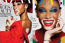 "Modelka z bielactwem na okładce ""Harper's Bazaar"""