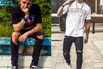 Czarne spodnie z dziurami – 5 stylizacji celebrytów