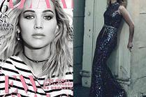Potargana Jennifer Lawrence pozdrawia z nowej okładki