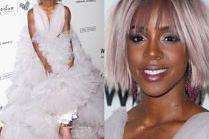 Kelly Rowland w tiulu i sportowych butach