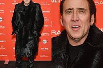Stylowy Nicolas Cage w kozakach i futrze