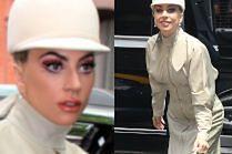 Lady Gaga spaceruje po Nowym Jorku w skórzanym kombinezonie