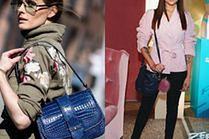 Z czym celebrytki łączą granatowe torebki?