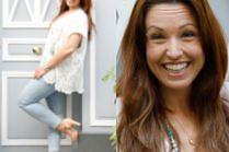 Kanadyjska piosenkarka śmieje się do drzwi