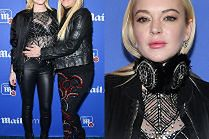 Opuchnięta Lindsay Lohan z mamą na ściance