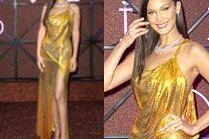 Skąpana w złocie Bella Hadid na gali Bulgari
