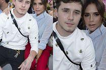 Dumna Victoria Beckham promuje syna na pokazie Diora