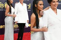 Kim Kardashian z mamusią na MTV Movie Awards