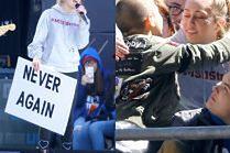 Miley Cyrus demonstruje i przytula fanów