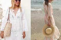Stylowe sukienki plażowe - jakie wybierają gwiazdy?