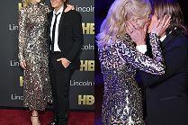 Zakochana Nicole Kidman całuje się z mężem na scenie