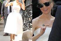 "Renee Zellweger w białej sukience promuje ""Bridget Jones' Baby"""