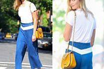 #TRENDY: Karlie Kloss w szerokich spodniach