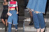 Bella Hadid lansuje modę na oderwane (?) nogawki