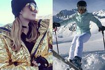 Kurtki narciarskie w stylizacjach gwiazd