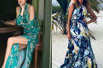 Jakie sukienki we wzory noszą celebrytki?