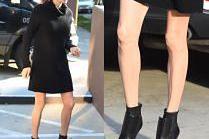 Angelina Jolie i jej chude nogi na spotkaniu z fanami
