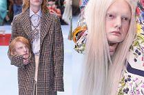 Modele niosą WŁASNE GŁOWY na wybiegu Gucci...