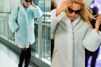 Zmęczona Pamela Anderson na lotnisku