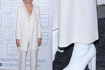Moda na białe kozaczki dopadła Anetę Kręglicką