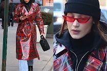 Bella Hadid dyktuje trendy w płaszczu z ceraty...