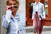 #TRENDY: Magda Mołek w plisowanej spódnicy