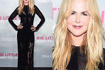 Nieśmiały uśmiech Nicole Kidman na ściance...