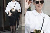 """Celine Dion w """"biurowej"""" stylizacji"""