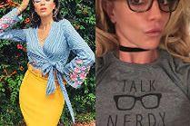 Damskie okulary zerówki w stylizacjach celebrytek