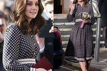 Ciężarna księżna Kate w sukience za półtora tysiąca