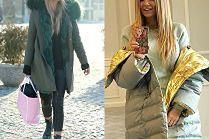 Najmodniejsze kurtki zimowe w stylizacjach celebrytek