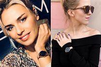 Złoty zegarek damski w stylizacjach celebrytek