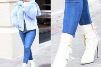 Rihanna w białych kozaczkach za 6 tysięcy
