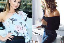 Asymetryczne bluzki w stylizacjach celebrytek