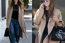 #TRENDY: Jessica Biel w beżowym płaszczu