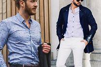 Z czym błękitną koszulę łączą celebryci?