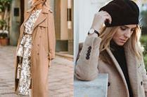 Do czego gwiazdy noszą beżowy wełniany płaszcz?
