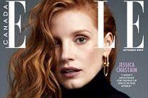 "Jessica Chastain na okładce ""Elle"""