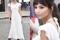 Skromna i romantyczna Emily Ratajkowski w sukience za 10 tysięcy