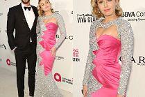 Zakochana Miley Cyrus z Liamem Hemsworthem na imprezie Eltona Johna