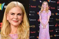 Romantyczna Nicole Kidman w różowej sukience