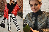 Modne pikowane kurtki wiosenne w stylizacjach celebrytek