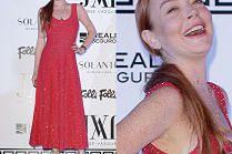 Odmieniona Lindsay Lohan na ściance w Madrycie