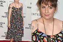 Odchudzona Lena Dunham w letniej sukience