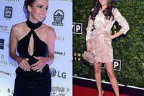 Aksamitne sukienki w luksusowych stylizacjach gwiazd