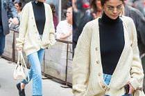 #TRENDY: Selena Gomez w beżowym kardiganie