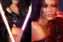 Wydęte usta Kourtney Kardashian promują kosmetyki siostry
