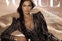"Irina Shayk kusi biustem na okładce ""Vogue'a"""