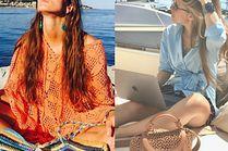 Modne torby plażowe w letnich stylizacjach celebrytek