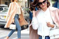 #TRENDY: Miranda Kerr w pastelowym płaszczu